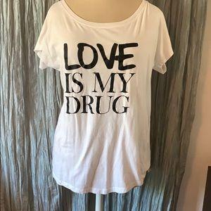 Hippie Love Love is my Drug Wide collared Shirt